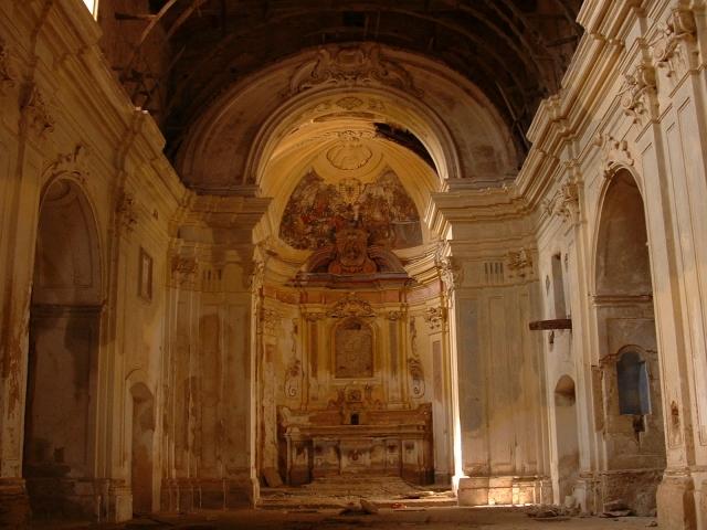 L'interno della Chiesa di S. Giovanni oggi